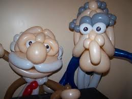 Balloon Art - Muppets - Old Grey Haired Chaps Made Of Balloons