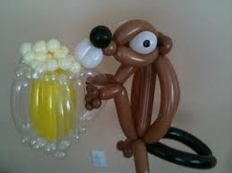 Balloon Art - Weasel Drinking Pint Of Beer