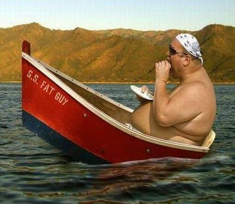Fat Guy In A Little Boat